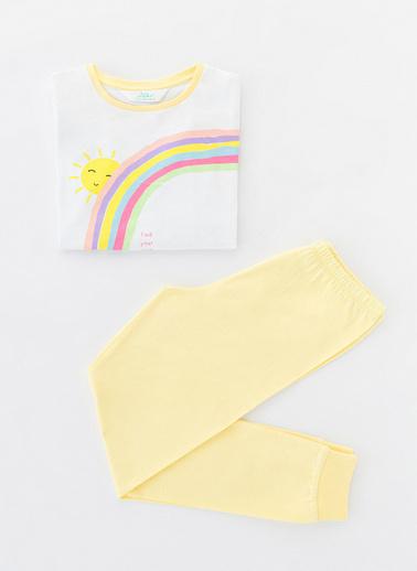 Penti Çok Renkli Kız Çocuk Sunshıne Ls 2Li Pijama Takımı Renkli